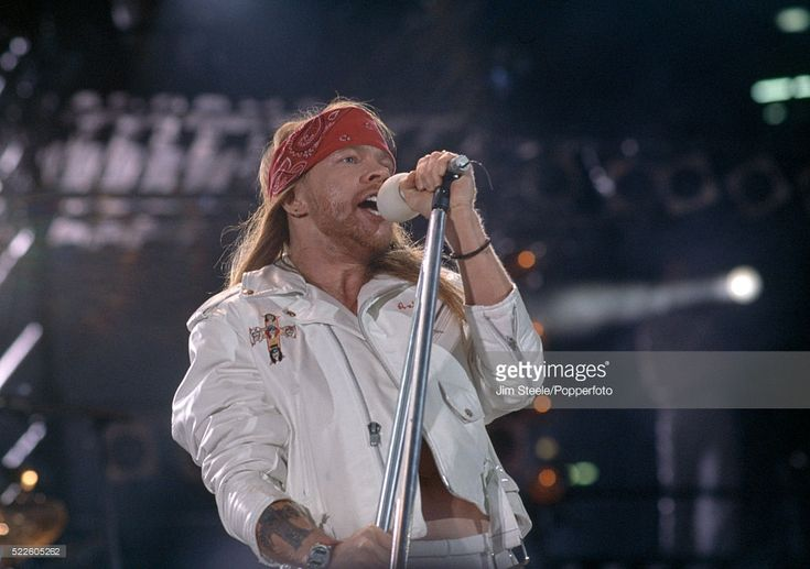 Axl Rose from Guns N' Roses performing on stage during the Freddie Mercury Tribute Concert for Aids Awareness at Wembley Stadium in London on the 20th April, 1992.