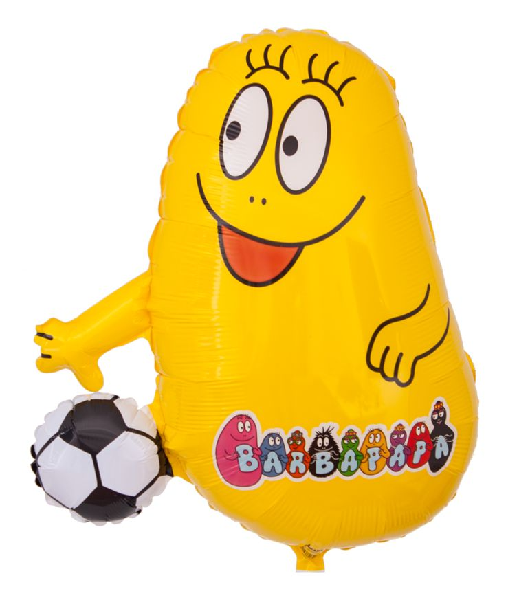 Barbapapa Ballon: Gelber Barbakus mit Fußball