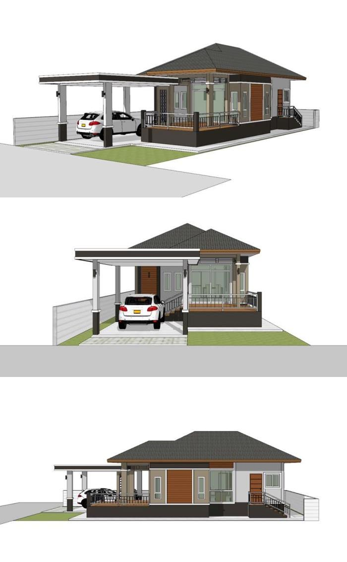 Compact Single Storey House Design For Beginners Or Small Family House Designs Exterior Small House Design Home Building Design