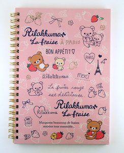 San-X Rilakkuma Ring Binder Notebook | Rilakkuma La Fraise: http://www.stationeryheaven.nl/San-X/Rilakkuma