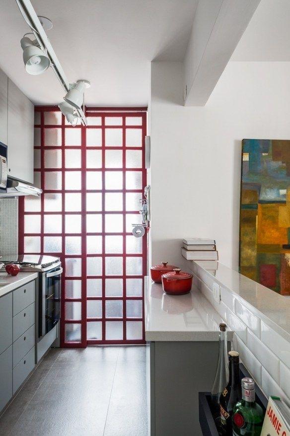 Como Separar A Cozinha Da Area De Servico Com Imagens Porta De