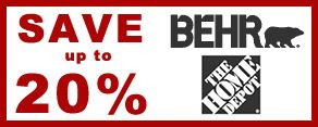 Save 20% - Behr Coupons