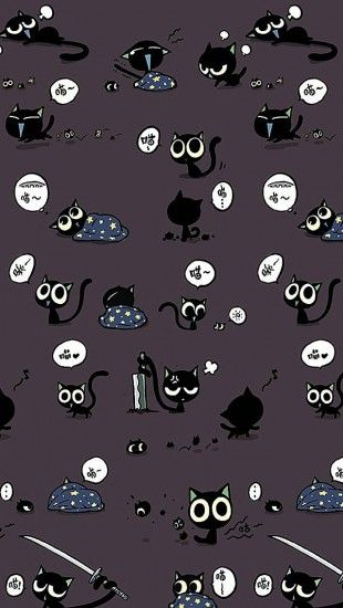 Cute Black Cat Pattern