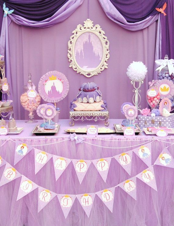 PURPLE Princess Party SILOUETTES Disney por KROWNKREATIONS en Etsy