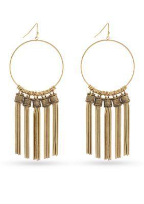 BCBGeneration  Gold-Tone Golden Girl Chandelier Earrings