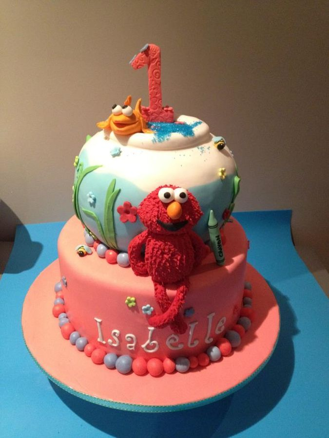 107 best Elmo Cakes images on Pinterest Elmo cake Birthday