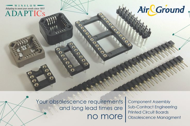 Winslow Adaptics has more than 30 years experience in design, development and manufacture of interconnect products. Your component obsolescence management is in safe hands with Air & Ground.