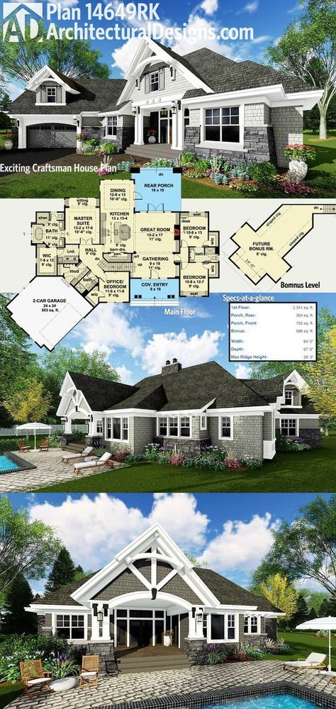 Top 25+ best Craftsman house plans ideas on Pinterest