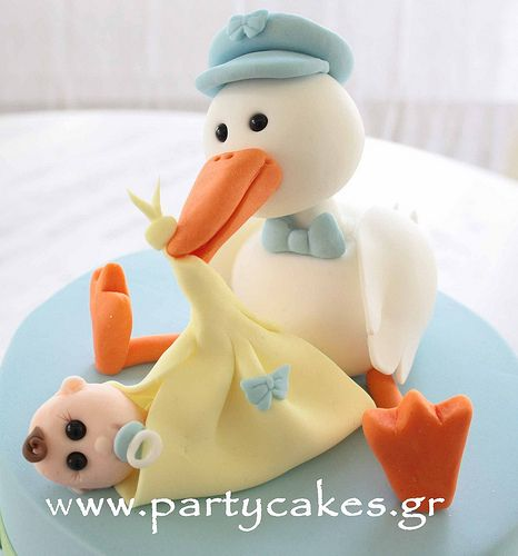 Stork Cake for a baby shower | Flickr - Photo Sharing!