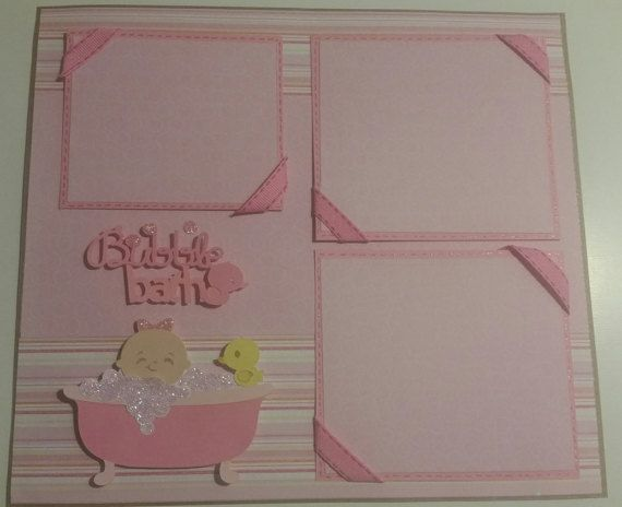 Bubble Bath Girls Scrapbook Layout Page by TagMagic on Etsy