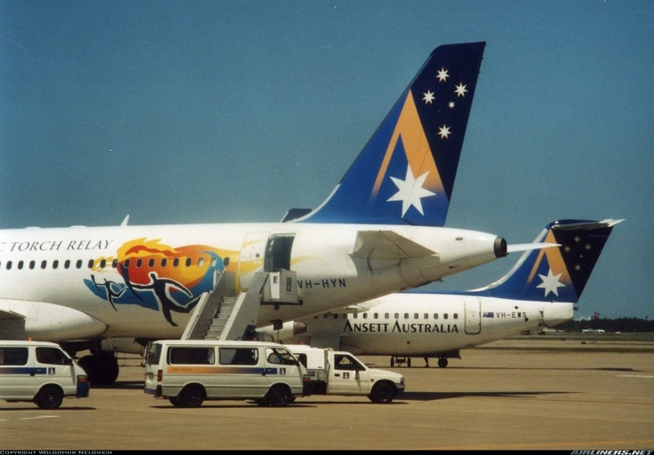 Ansett - Official Airlines of the 2000 Olympics
