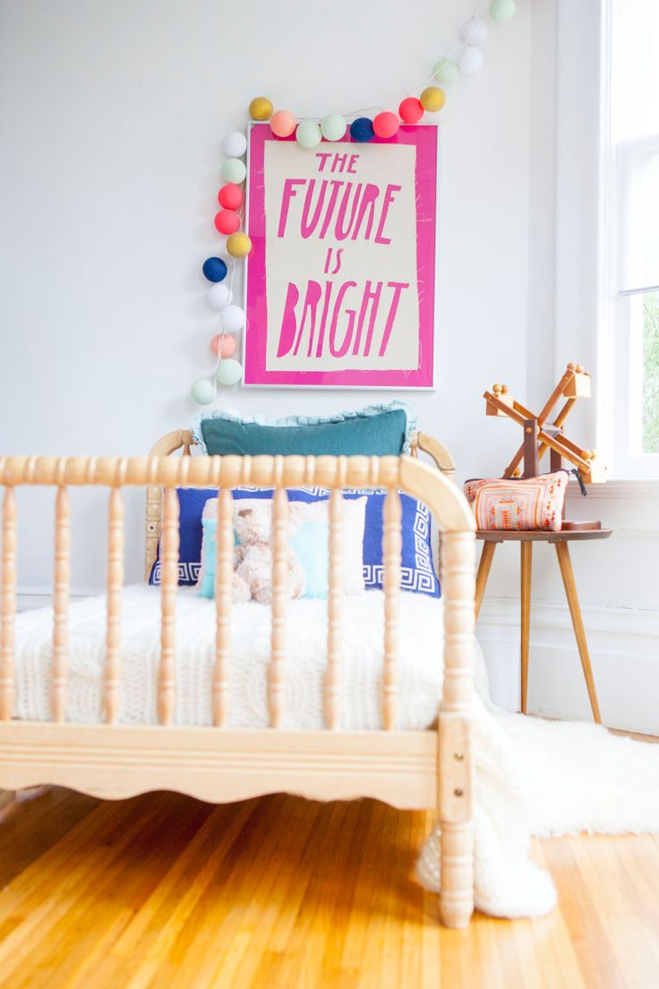 Cute and simple kids room with Bright Lab Lights