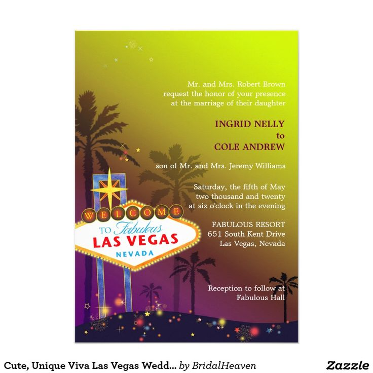 sister wedding invitation card wordings%0A Cute  Unique Viva Las Vegas Wedding Invites