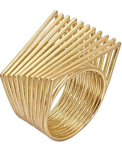 Gold ring by Antonio Bernardo for Elements / Redundância / A forma é repetida várias vezes e com sensação de movimento.