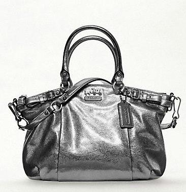 black coach purse outlet 7za1  metallic coach