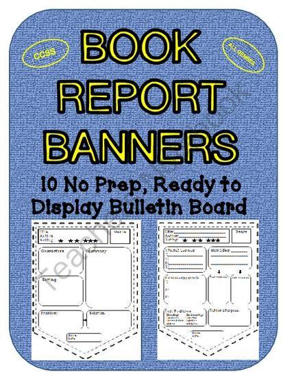 Sandwich book report bulletin board