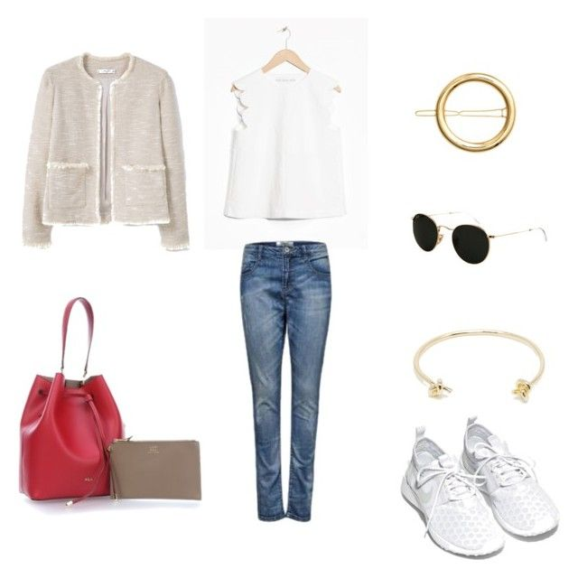 """""""Casual Travel Outfit III"""" by liabsspozerl on Polyvore featuring Mode, Monki, NIKE, MANGO, H&M und Ray-Ban"""