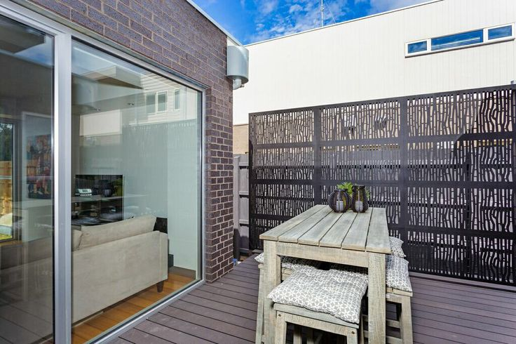 Screening for privacy on side deck.