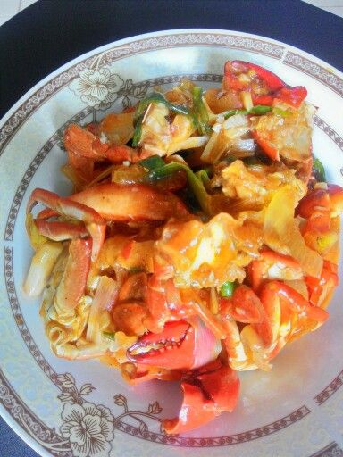 The first dish I made crab sweet and sour sauce :D