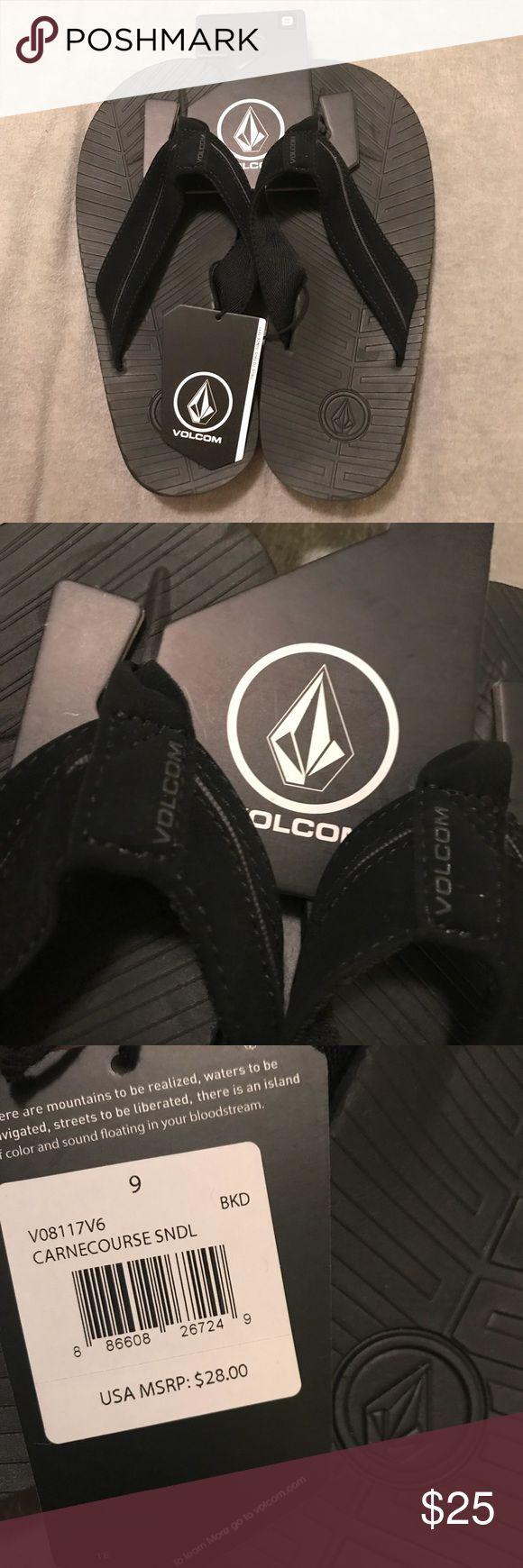 VOLCOM Mens Size 9 black flip flops NWT NWT Black Volcom Mens flip flops. Size 9 Volcom Shoes Sandals & Flip-Flops