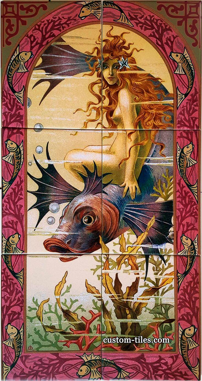 44 best custom printed tile mural backsplash images on pinterest custom shower tiles art tile mural for the bathroom art submitted by t