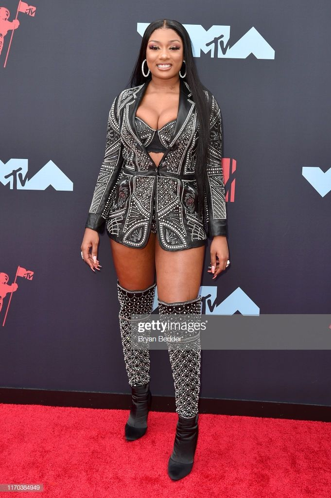 Megan Thee Stallion Attends The 2019 Mtv Video Music Awards At Celebrity Style Red Carpet Celebrity Red Carpet Celebrity Look