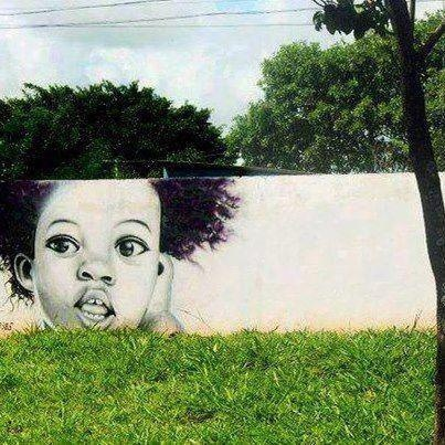 Using the landscape... afro street art