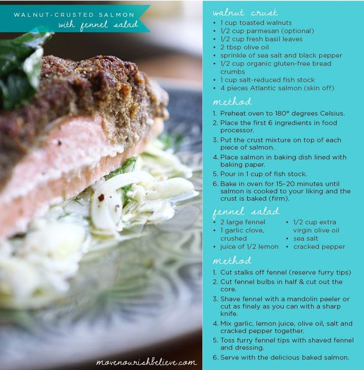 Walnut crusted salmon recipe.