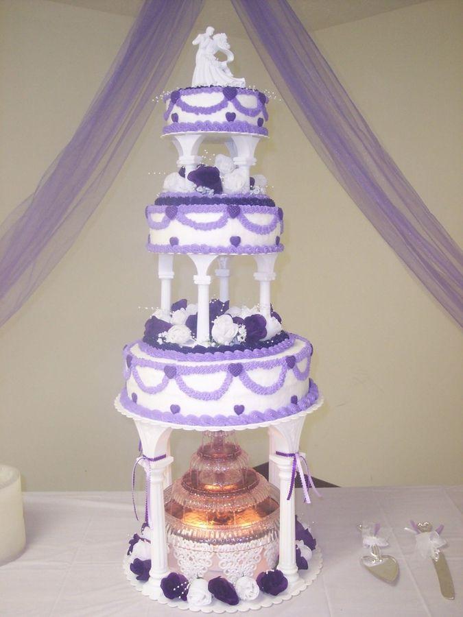 Wedding Cakes with columns | ... wedding cake w fountain ...