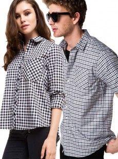 Cep Detaylı  Sevgili Gömlek Kombini