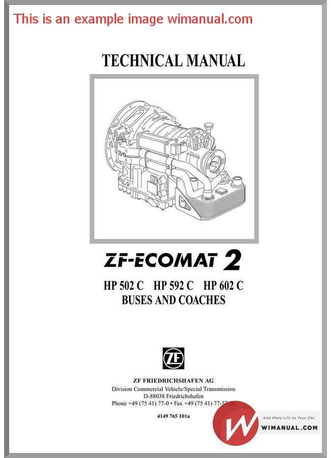 Zf Ecomat  Hp    Repair Manual Pdf Download This