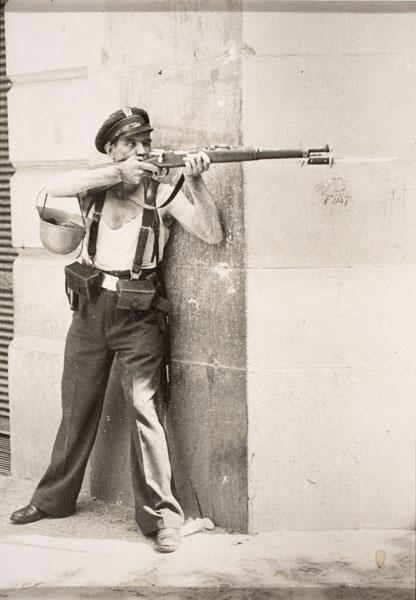 Spanish Civil War by Agusti Centelles.   Barcelona, 19 July 1936