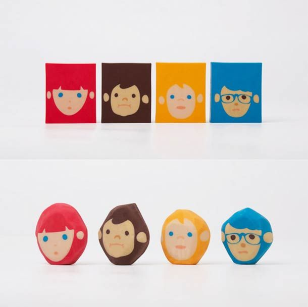 Rubber barber - erasers by Chen Lu Wei / Megawing. Jeveuxjeveuxjeveux !!