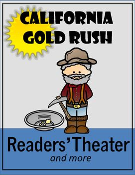"""Magic Trunk Series: Your students will have fun as they learn about the Gold Rush through readers' theater. Included is a partner game, """"Panning for Gold"""" and an Internet Scavenger Hunt. Check out the Preview!"""
