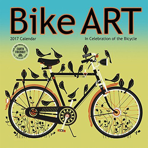 Bike Art 2017 Mini Wall Calendar: In Celebration of the Bicycle:   This exciting mix of contemporary artwork pays tribute to the art of the bike. Graphically fresh and full of color, the work of twelve talented artists captures the spirit of the two-wheeled wonder. Month by month, the Bike Art mini wall calendar whisks you through the seasons with eye-catching illustrations and photography. Each day you'll be reminded why bicycles are both a necessity and a joy for millions of cyclists...