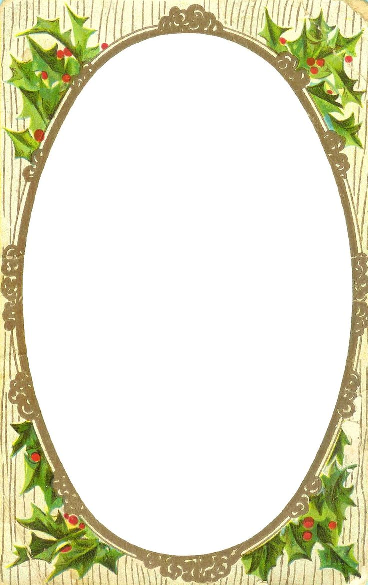 Free printable christmas borders for letters - Antique Images Free Printable Christmas Label Christmas Clip Art Of Holly Berry Frame From