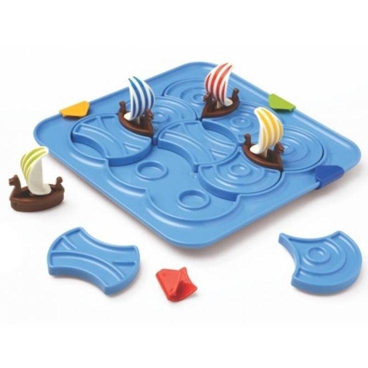 Vikings Smartgames, goed nadenken en loods je schepen door de woeste golven! Ideaal voor een lange autorit of als je ergens lang moet wachten!