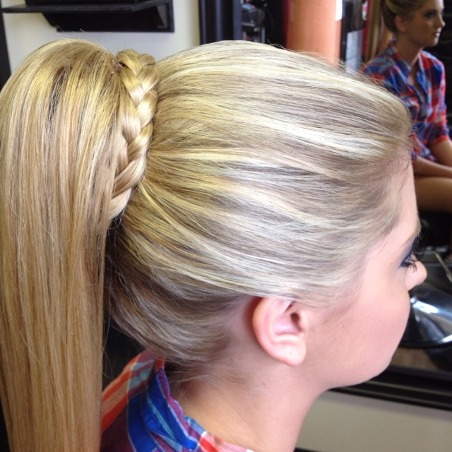 High Ponytail With Braid Prom Style Formal Style By Erecka