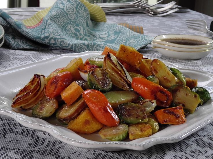Roasted Vegetables with Balsamic Glaze Recipe : Trisha Yearwood : Food Network - FoodNetwork.com