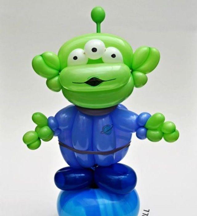 Toy Story Alien Balloon Art Character #balloon-art-toy-story-alien