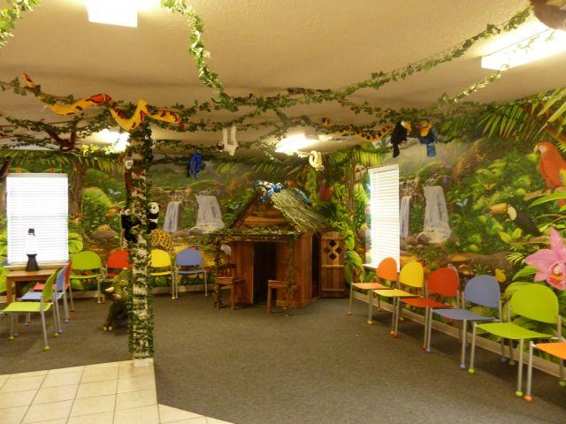 Fun Jungle Theme In This Pediatric Dental Office