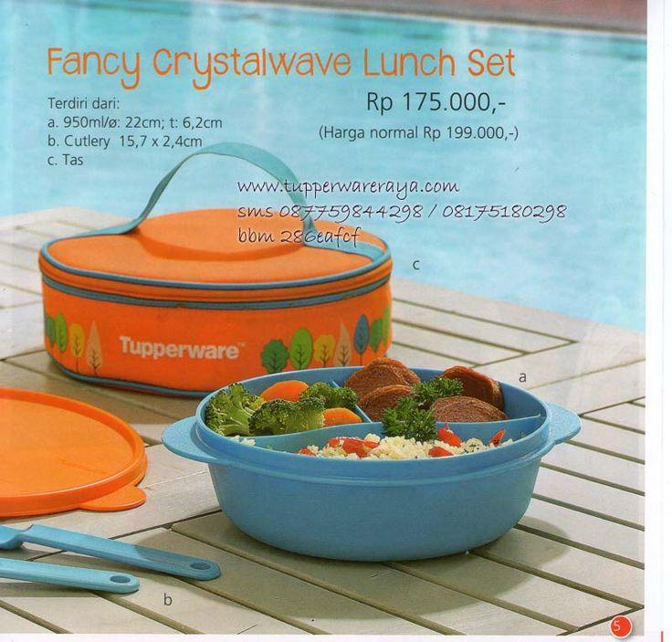 Katalog Tupperware Promo Agustus 2014 - Fancy Crystalwave Lunch Set