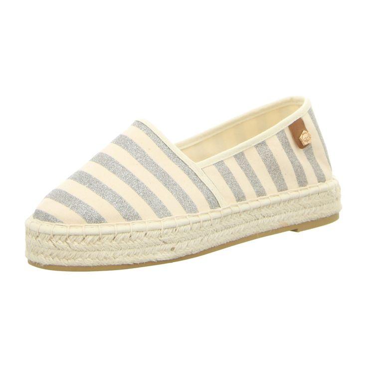 NEU: Tamaris Slipper 1-1-24602-28-955 - platin stripes -