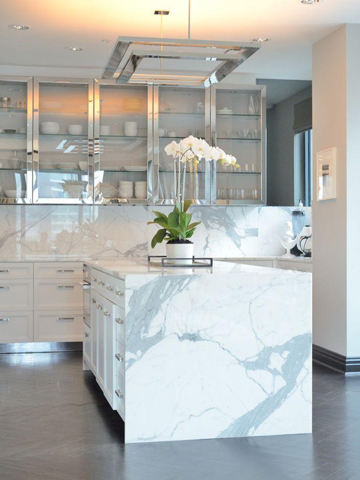 Ultra modern marble chrome kitchen