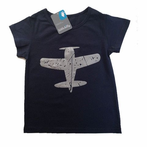 Set their imagination free with Fly With Me tees in blue or green