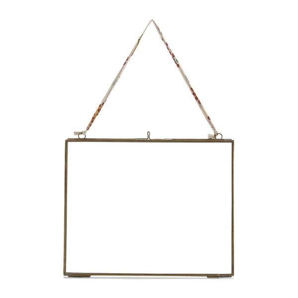 """Nkuku Kiko Glass Frame - Antique Brass - Landscape 8"""" x 10"""" (20 x... ($24) ❤ liked on Polyvore featuring home, home decor, frames, borders, picture frame, vintage glass frames, vintage home decor, vintage glass picture frames, glass picture frames and glass home decor"""