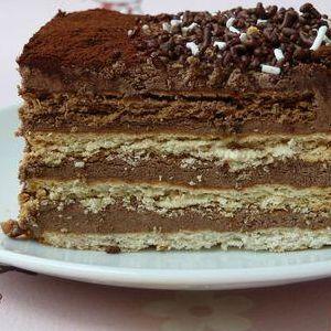 Tarta de chocolate y galletas de la abuela