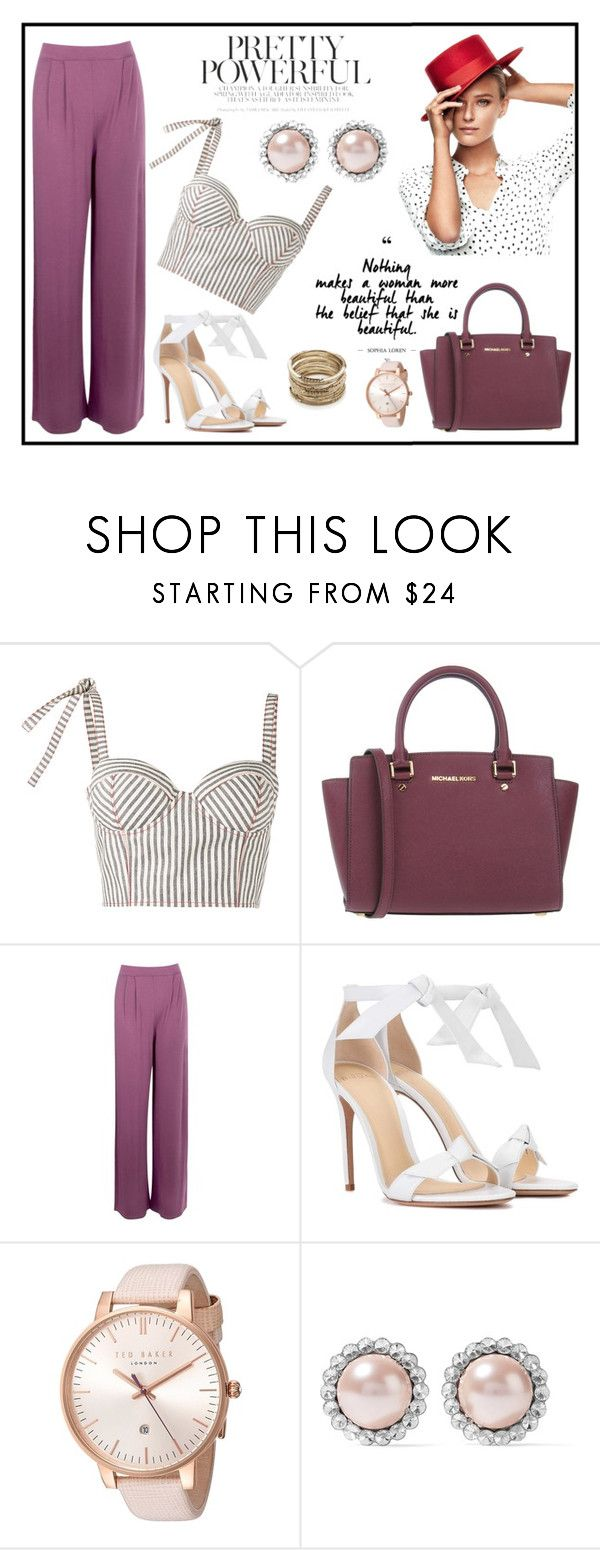 """""""Powerful"""" by minchy-269 ❤ liked on Polyvore featuring Rosie Assoulin, MICHAEL Michael Kors, Boohoo, Alexandre Birman, Ted Baker, Miu Miu, Sole Society, polyvoreeditorial and powerlook"""