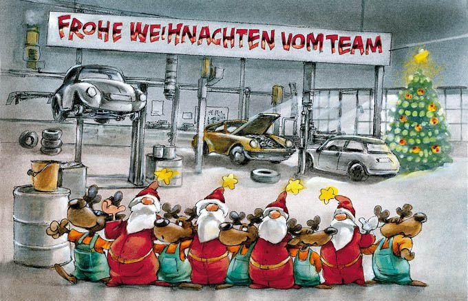 Pin Auf Weihnachtskarten Fur Kfz Werkstatten Autohauser Reifendienst Und Fahrschulen