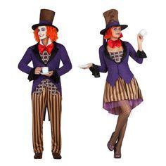 Pareja Disfraces de Sombrereros Locos #parejas #disfraces #carnaval